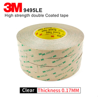 3M Self adhesive 300 LSE 9495LE Transparent double sided tape PET Heat resistant 300 LSE 55MM *55M 5 PCS FREE FAST SHIPPING DHL