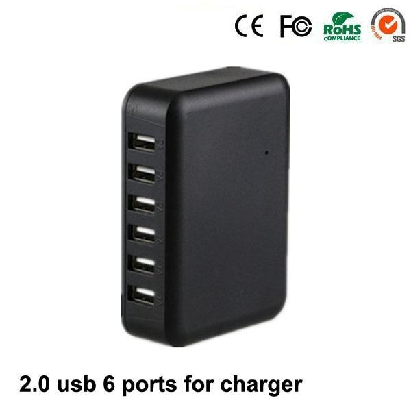 USB 2.0 Output 5V 1A 2A Input AC 100-240V 6 Poorten USB-lader met CE - Computerrandapparatuur - Foto 1