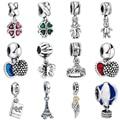Wybeads encanto de prata elegante moda pingente encantos europeus fit pulseiras & bangles diy acessórios jóias tomada original