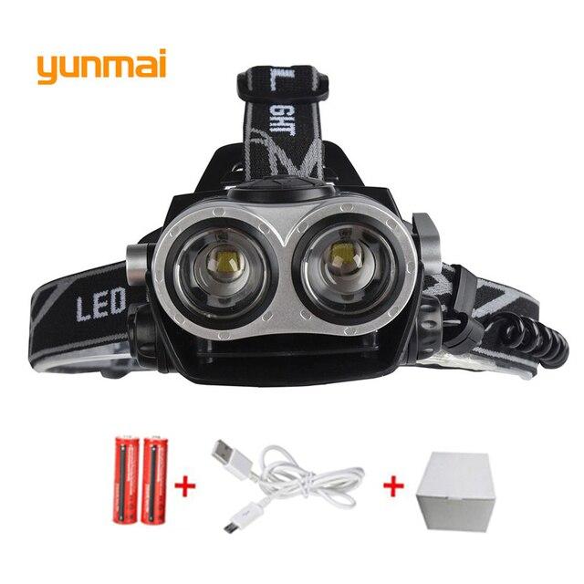 bcf6437ea79 Powerful 5000Lumen CREE XM-L T6 LED Headlamp Headlight Caming Hunting Head Light  Lamp 3