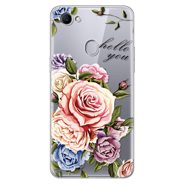 Flowers For OPPO F7 Case Silicone 6.23 5