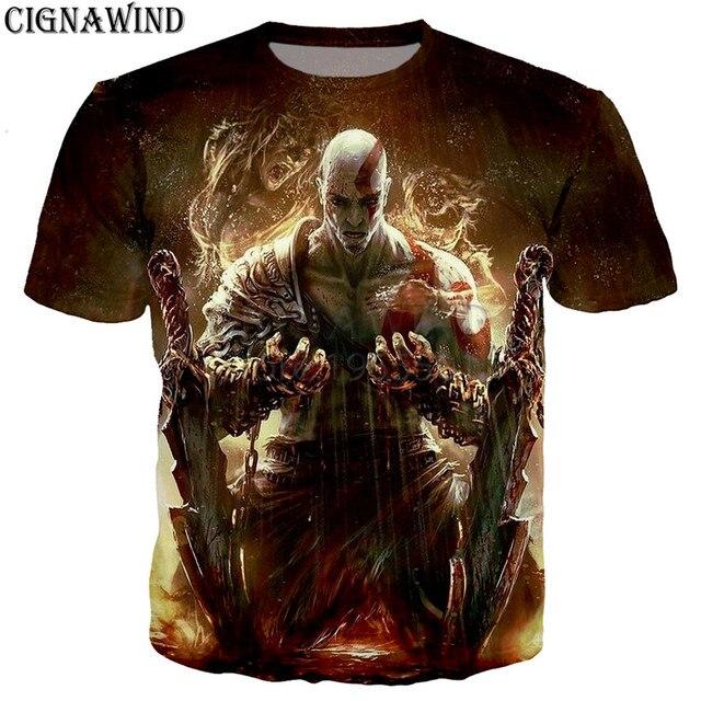 God of War 3D printed t-shirts unisex 2