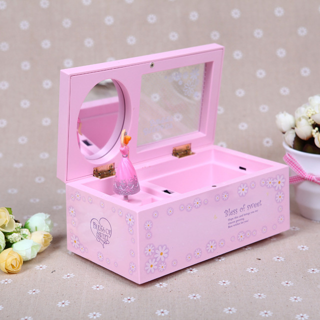 Angelas Gift Ballerina Music Box Girl Jewelry Boxes With Mirror Fur Elise Wedding Souvenir Gifts