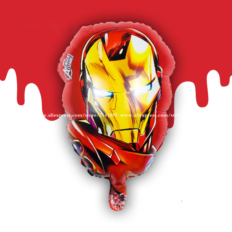 10pcs/lot Captain America&Hulk&spiderman&Iron Man Balloons anime character foil balloons Kids Classic Toys