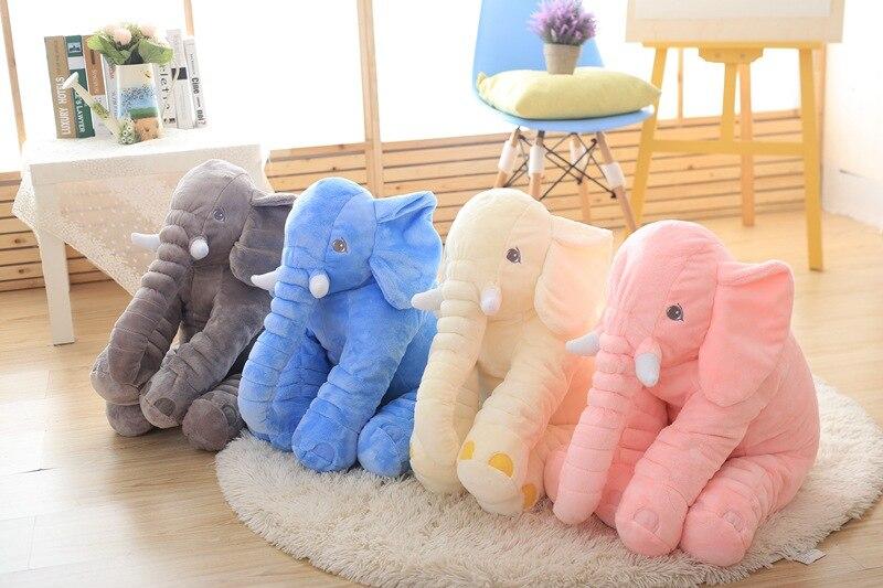 Éléphant oreiller grande peluche réaliste animal en peluche jouet grande taille 60 cm poupée pour bébés mère filles petite amie peluche offre spéciale