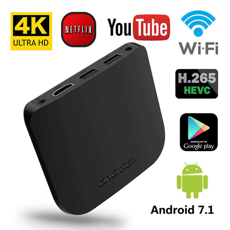 MECOOL M8S Plus W 2GB 16GB Andriod 7.1 TV Box Amlogic S905W Quad Core Smart Set top Boxes 4K Ultra HD Built In Wifi Media Player eu us plug cs918s andriod 4 4 smart tv box quad core 2gb ram 16gb rom built in bluetooth 3g wifi android tv box newest in 2017