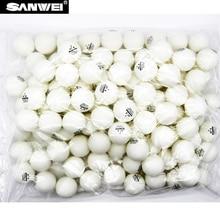 100 balls SANWEI table tennis 1-star seamed plastic 40+ ABS new material poly ping pong ball tenis de mesa