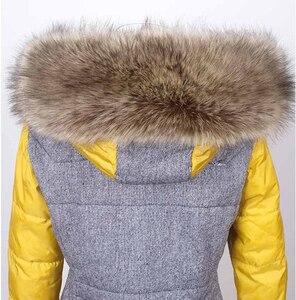 Image 3 - Autumn and winter womens Faux fur collar cap fox fur big collar raccoon fur collar muffler scarf cape thicken warm scarf