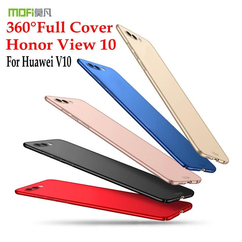 Pour Huawei V10 Cas D'origine MOFI Dur PC Mat de couverture Arrière pour L'honneur Vue 10 5.9 ''Plein De Protection Ultra Mince Shell Cas Capas