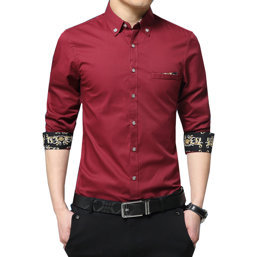 Hot Sale Cotton Dress Shirts Men Smart Casual Long Sleeve Shirt Plus Size 5XL Male Busin ...