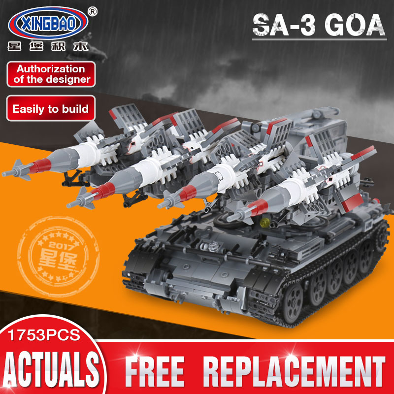 Xingbao 06004 1753Pcs Military Series The SA-3 missile and T55 Tank Set Children Toy Educational Building Blocks Bricks Gifts