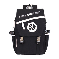 EXO From Planet Canvas Backpack Sacks Women/Men Student School Bags For Girl boy Casual Travel EXO bags