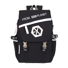 Kpop EXO Canvas Backpack Sacks Women Men Student School Bags For Girl boy Casual Travel EXO
