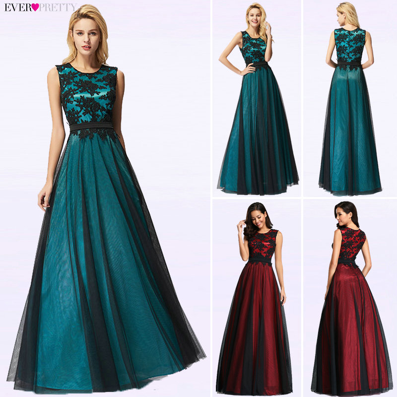 Vestido de Festa Longo Real Photo Lace Appliques Long   Evening     Dresses   2019 Cheap   Evening   Party   Dresses   Robe De Soiree Longue