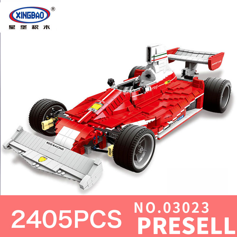 XINGBAO 03023 2405PCS Genuine Classic The Red Racing Car Set Building Blocks Bricks DIY Educational Toys Gifts for Children ...