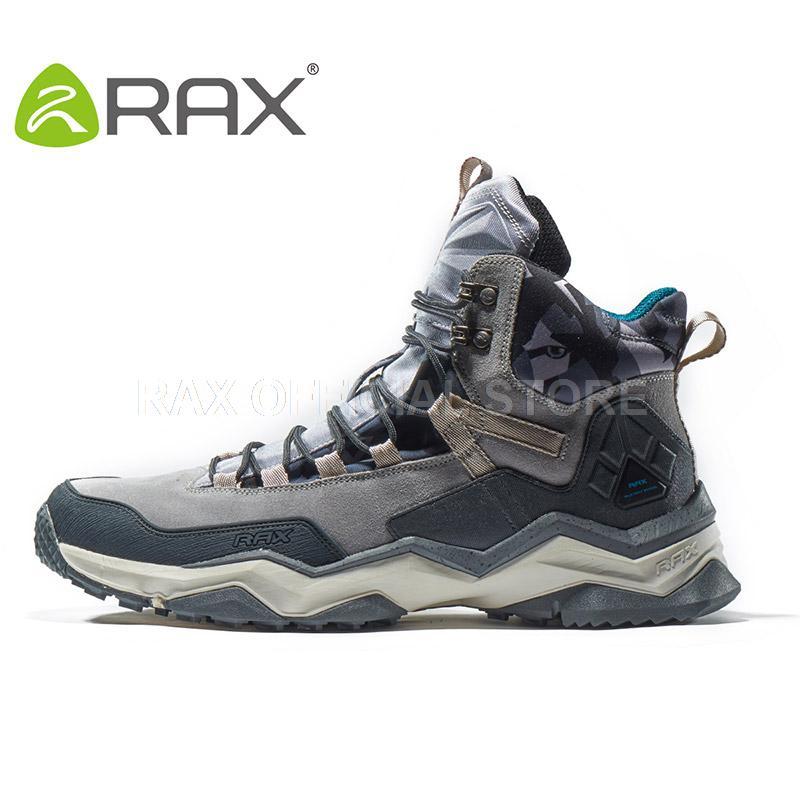 RAX Mens Vattentäta Vandringsskor Äkta Läder Mountain Hiking Boots - Gymnastikskor - Foto 2