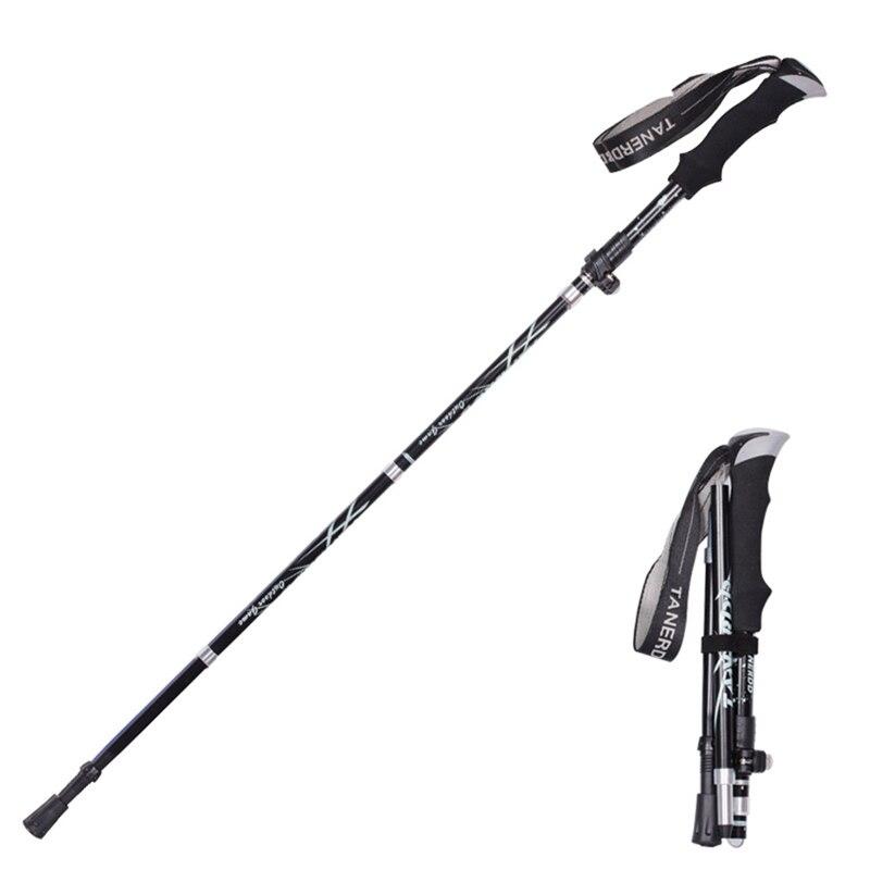 Anti Shock High Quality Nordic Walking Trekking Hiking Stick Telescoping Cane