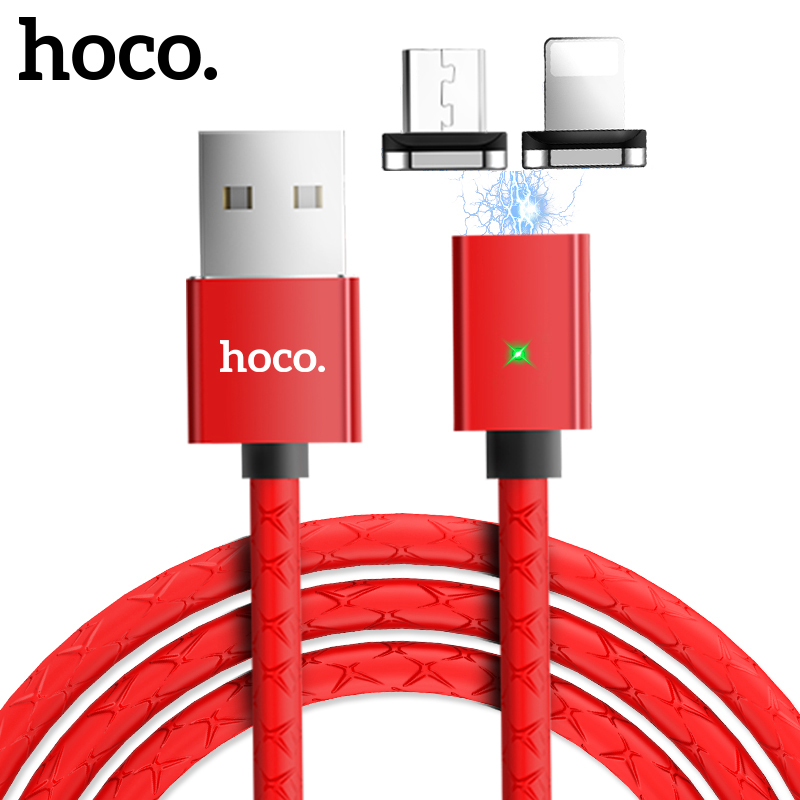 Hoco Led Magnetic Usb Charging Cable For Lightning Micro