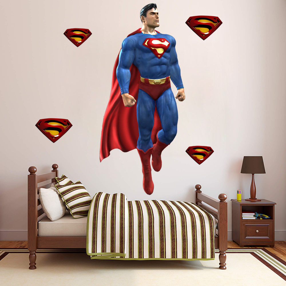 superman wall decal  roselawnlutheran - online shop superman wall sticker decor decal vinyl room art comics decalsd superhero  aliexpress