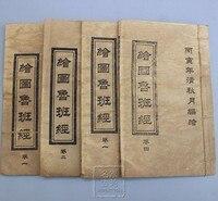 골동품 수집 골동품 도서 원고 오래 된 고대 책 스레드 바인딩 된 책 오래 된