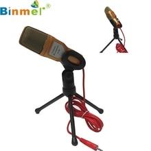 Factory Price Binmer Condenser Sound Studio Microphone Mic For Chat PC Laptop Skype MSN Mfeb25 Drop Shipping