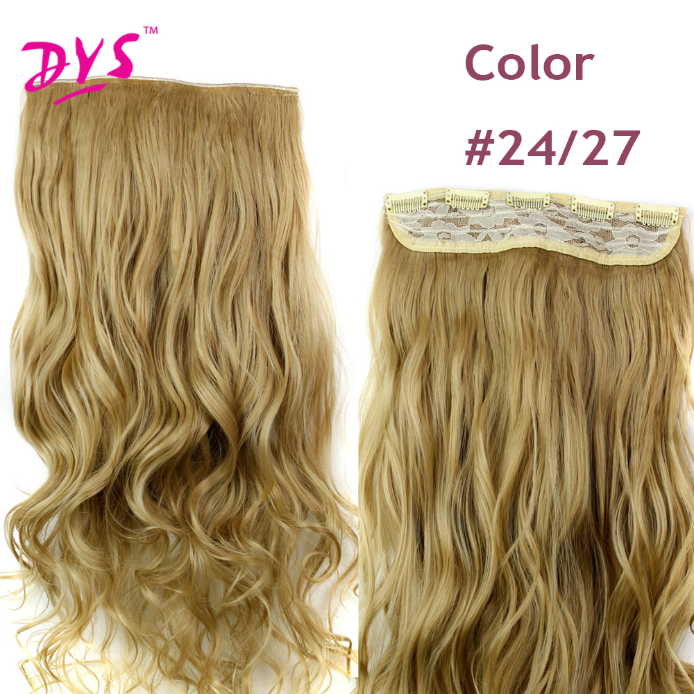 Deyngs 60CM One Piece 5 Clips in Hair Extensions For Women 34 Full Head Long Wavy16 Colors High Temperature Synthetic Fiber (15)