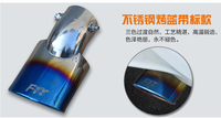 For Honda FIT JAZZ 2014 2015 Dazzling Stainless Steel Exhaust Muffler Tip End Pipe