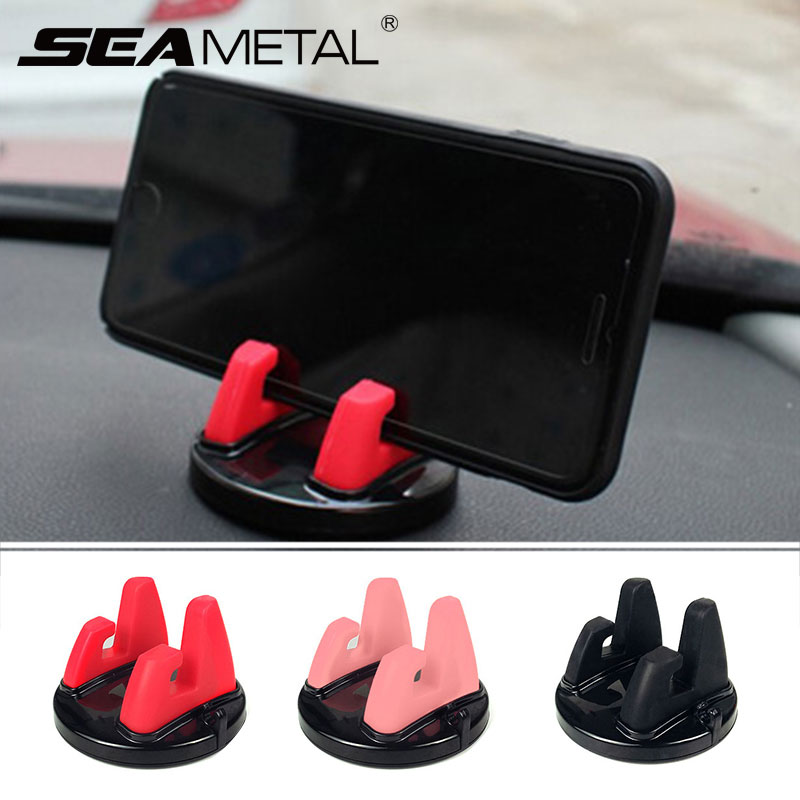 360 Degree Rotating Car Phone Holder Anti Slip Silicone Mobile Phone Stand Mount GPS Support for Xiaomi Huawei Auto Accessories 1