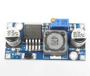 Image 1 - 100 stücke DC DC Step Down Converter Modul LM2596 DC 4,0 ~ 40 bis 1,3 37 V Einstellbare Spannung Regler