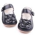 Alta Qualidade de Couro Beautiful Rasa Flor Bebê Sapatos Princesa Menina 1-3 Anos