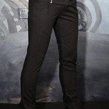 M-5XL мужские брюки больших размеров мужские повседневные штаны для стройных обтягивающих штанов конические шаровары модный костюм штаны на молнии