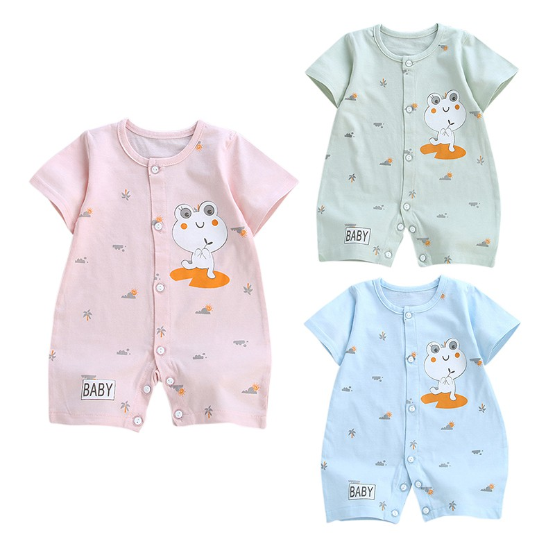Baby Rompers Summer Style Baby Boy Girl Clothing Newborn Infant Frog Short Sleeve Clothes Bebe De Roupa 2018 Jumpsuits