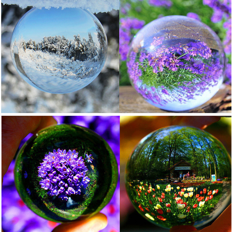 90MM Contact Juggling Ball 100% Transparent Crystal Ball Stage Clear Ball Magic Tricks for Magicians Gimmick Toys Collection