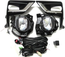 LED Front Fog font b Lamp b font Light replacement For Toyota Land Cruiser Prado 150