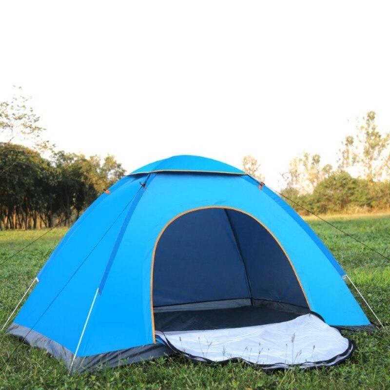Camping entièrement automatique tente pliable 1-2 Personne Plage Étanche tente de plage Ultra-Léger En Plein Air Randonnée Pique-Nique Pop Up Tentes