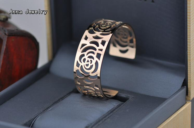 The Most Celebrated Rose Flower Cuff Bangle,Hollow Rose Flower Design Metal Bangle,Perfect for Women Wtist,All Views Will On You Karachi