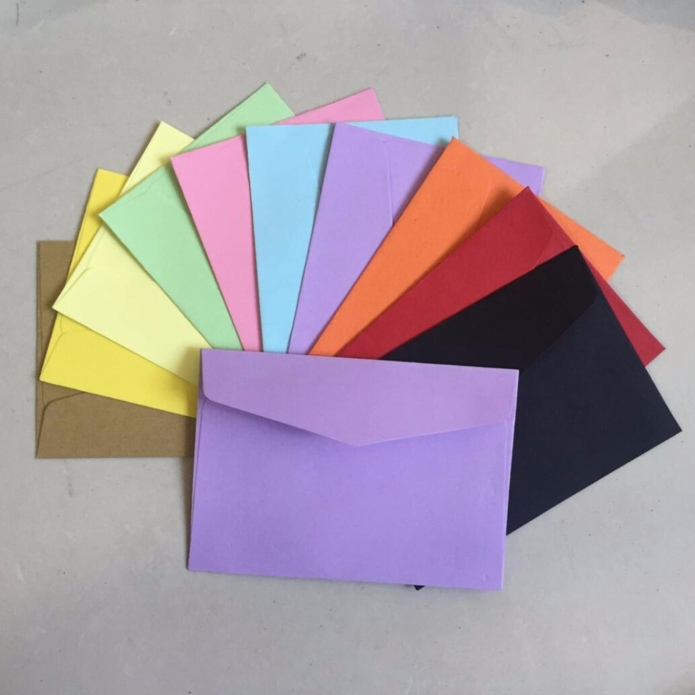 50pcslot candykraft paper 10 color blank envelopes 108x82mm bank 50pcslot candykraft paper 10 color blank envelopes 108x82mm bank card envelopes greeting cards mini envelopes membership card in paper envelopes from kristyandbryce Gallery