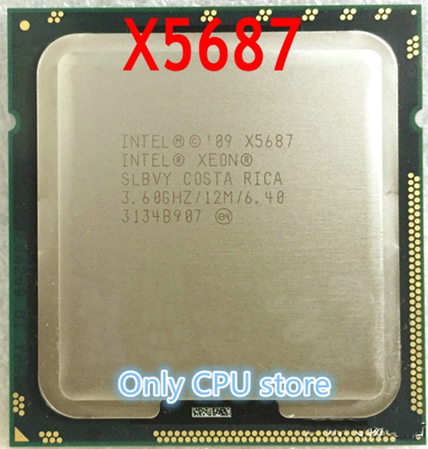 US $26 3 |Aliexpress com : Buy Free shipping Xeon X5687 processor  (3 6GHz/12MB/4 cores/Socket 1366/6 4 GT/s QPI)Original Server CPU from  Reliable xeon