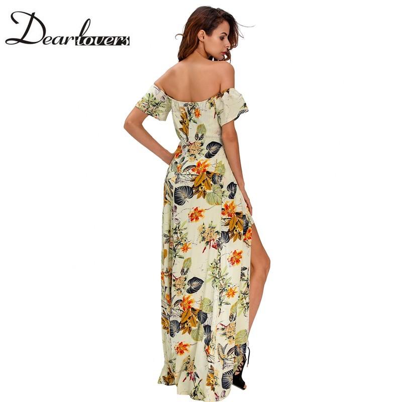 HTB1SBOrNFXXXXblXFXXq6xXFXXXR - Maxi Dress Floral Slit Romper Long Dress JKP062