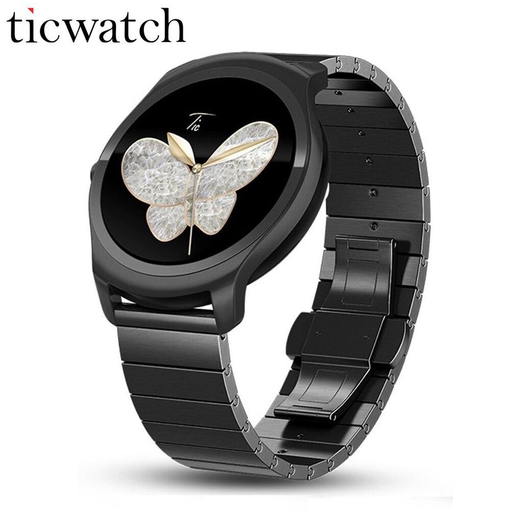 Ticwatch 2 Métal montre Smart watch MT2601 1.2 GHz 512 M RAM 4G ROM De Luxe Portable Appareils GPS Smartwatch Téléphone étanche Smartwatch