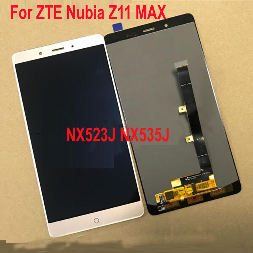 Melhor Sensor de Trabalho de LCD Screen Display Toque Digitador Assembléia Para ZTE Nubia Z11 Max Z11Max NX523J NX535J Partes Do Painel Móvel