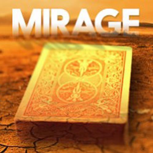 2016 Nuevas Llegadas MIRAGE (gimmick + instrucciones en línea), de cerca trucos de magia, ilusión, magia con cartas, diversión, mentalismo, magia de la calle