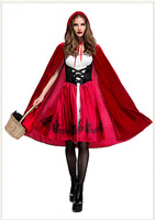 Hot Sexy Dres Plus Size S M L XL Costume Adult Little Red Riding Hood Costume