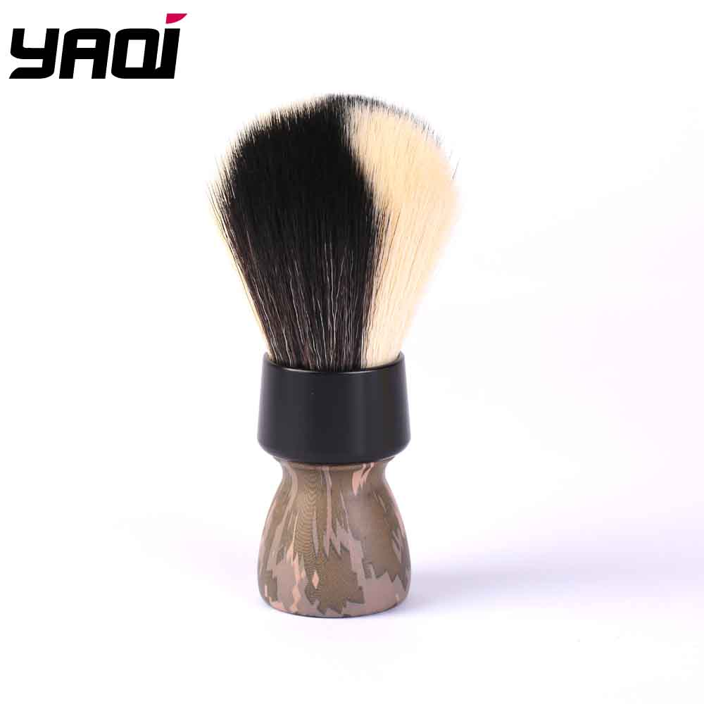 Yaqi Target Shot White And Black Synthetic Fibre Shaving Brush