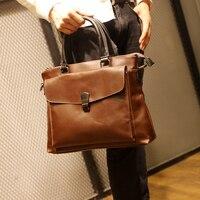 Tidog Crazy horse leather briefcase man business bag