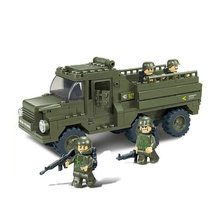 Army Military transport truck gun MOC UV-Printing Building Brick military weapon accessories DIY mini figures original toys gift(China)
