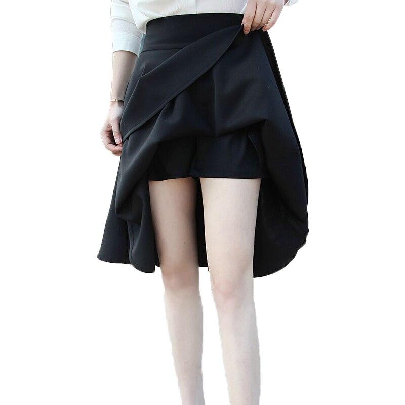 9372d9c6b1 Description; Specification; Reviews (0). 6XL Plus Size Skirt High Waisted  Skirts Womens Black Knee Length Bottoms Pleated Skirt Saia Midi Black Red  2018.