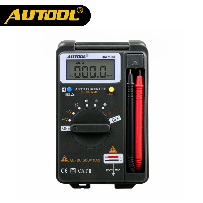 AUTOOL DM Mini Multimeters Integrated DC Short Circuit Test True RMS Auto Range Tester Electrician Handheld Digital Multimeter integrated circuit tester ic tester