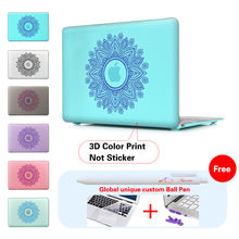 3D Printed Case Garland Paisley Pattern Cover For Mac Book Case Air 11″ 13″ Hard Crystal Shell For Macbook Pro 13 15 12 Retina