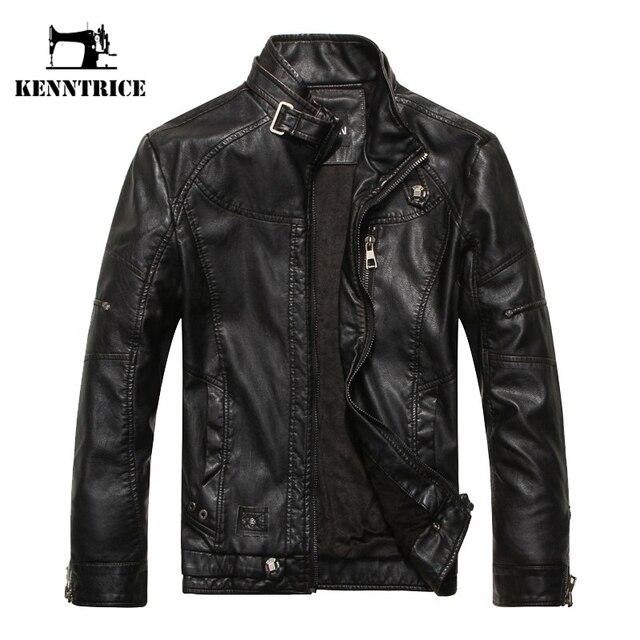 Kenntrice Autumn Winter Brand jaqueta de couro masculino Jaqueta Couro Masculino Jaqueta de couro Bombardeiro Casaco de pele de carneiro Casaco de motocicleta